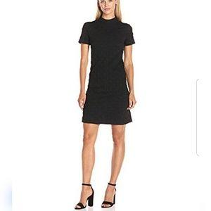 Betsey Johnson Dotted Jacquard Dress 2 Black
